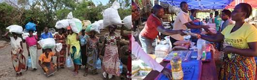 Figura 10. <b>Ajuda às vítimas do ciclone Idai em Moçambique.</b>