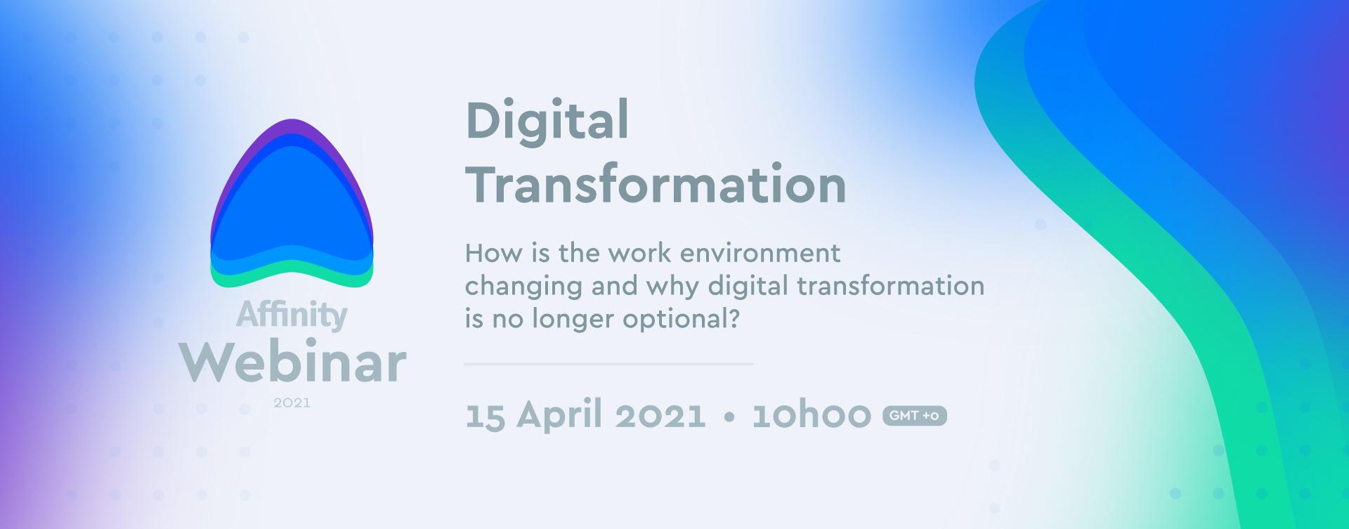 Affinity organiza Webinar sobre Transformação Digital