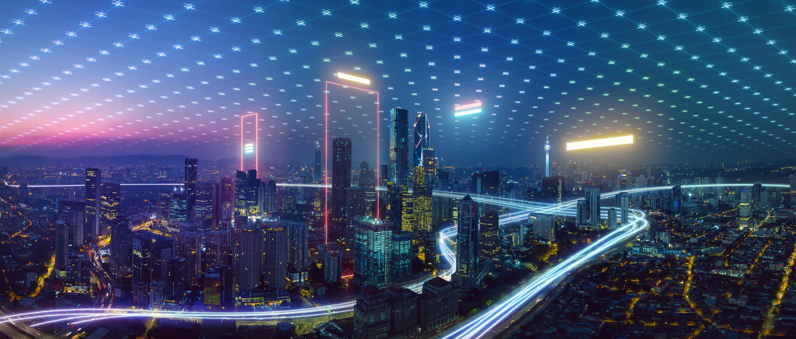 Big data connection technology concept .