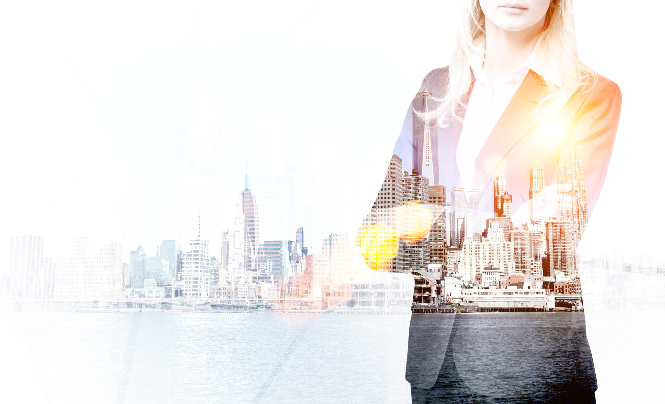 Businesswoman and New York